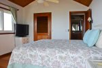 Guest king bedroom on second floor with private deck & king bed